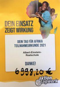 Teilnahmeurkund Tag für Afrika